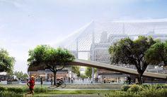 Sede da Google, de BIG e Heatherwick, será construída com robôs