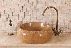 Bathroom Collection Sinks | Roma Noce Travertine Sink (DLT 626)