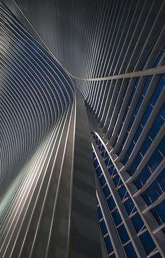 Calatrava lines at the blue hour by jefvandenhoute, via Flickr