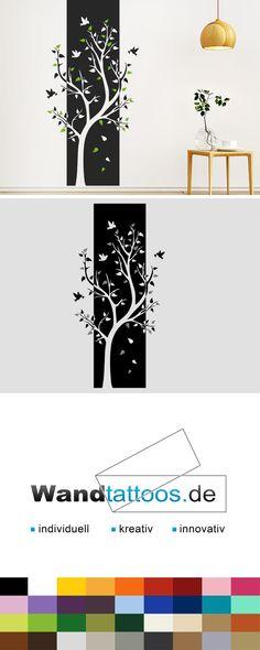 Wandbanner Baum als Idee zur individuellen Wandgestaltung. Einfach Lieblingsfarbe und Größe auswählen. Weitere kreative Anregungen von Wandtattoos.de hier entdecken!
