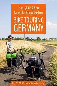 If you're thinking of bike touring Germany, we say, great idea! With its well-developed network of bike paths and relatively flat terrain, Germany is the p Touring Bicycles, Rio, Travel Tours, Travel Ideas, Travel Inspiration, Travel Destinations, Amazing Adventures, European Travel, Germany Travel