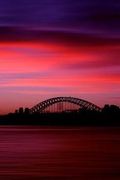 Sydney Harbour Bridge Sunset, Sydney, New South Wales, Australia Amazing Sunsets, Beautiful Sunset, Beautiful World, Amazing Nature, Harbour Bridge Sydney, Harbor Bridge, Places To Travel, Places To See, Wonderful Places