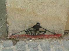 Paris, France graffiti