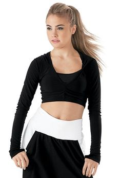 cf089ec869b7a2 Hooded Long Sleeve Crop Top