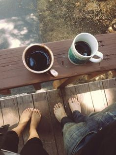 a beautiful morning starts with coffee.