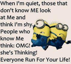15 Funny Memes Minions-Life Humor and Hilarious memes - HumorTrip Funny Minion Pictures, Funny Minion Memes, Minions Quotes, Minion Humor, Minions Pics, Funny Quotes With Pictures, Funny Images, Minion Sayings, Minion Stuff