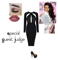 """""""Special Guest Judge on Skin Wars"""" by sonialicetmartinez ❤ liked on Polyvore featuring Christian Louboutin and Lime Crime"""