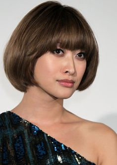 Asian Hair Styles - Round Bob with Front Bang