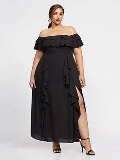 Naia Off Shoulder Maxi Dress - Fashion To Figure Sexy Maxi Dress, Sexy Dresses, Casual Dresses, Fashion Dresses, Girls Dresses, Bodycon Dress, Flare Dress, Curvy Women Fashion, Curvy Fashion