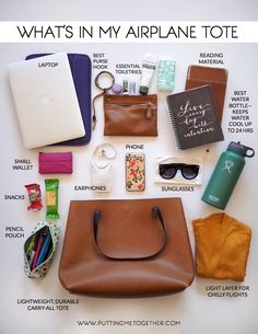 Want to know how you can organize your personal bag when traveling? You want to take a tote and don't know what to put inside? Follow these Organization tips, traveling tips, traveling tricks, carry on tips, and have always what you need.