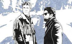 Pen sketch for Fargo: a reinterpretation, released by Altar of Waste