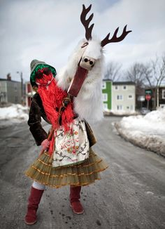 A Newfoundland Mummer. From the Cover of The Walrus magazine, *Photo by Johan Hallberg-Campbell