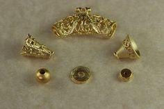 Fornitura entrepiezas chapado en oro de 22k. para usar en joyería y alta bisuteria.