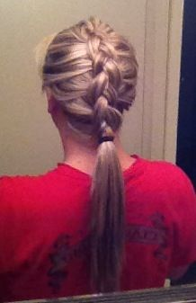 Inside out French braid
