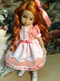 Dianna Effner Little Darling Doll Gingham by SewMuchMoreToSew