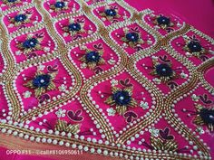 Best Blouse Designs, Bridal Blouse Designs, Saree Blouse Designs, Hand Embroidery Designs, Embroidery Stitches, Hand Designs, Flower Designs, Maggam Works, Thread Work