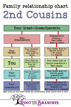 Genealogy Charts- Family relationship chart cousins Understanding cousin relationships can be tough. cousin once removed? What does removed even mean? Join me while we break down the cousin relationship. Free Genealogy Sites, Genealogy Forms, Genealogy Chart, Family Genealogy, Genealogy Quotes, Family Relationship Chart, Cousin Relationships, Relationship Advice, Healthy Relationships