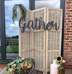 Manor farm wedding hampshire with rustic homemade glamping vibes excited to share this item from my etsy shop gather sign large laser cut word wedding decor diy words oversized word wedding backdrops junglespirit Images