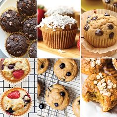 Are you a muffin queen just like us? Here's our favorite base recipe for healthy muffins + 6 different healthy muffin recipes you can make with it! Healthy Blueberry Muffins, Healthy Muffin Recipes, Blue Berry Muffins, Snack Recipes, Bread Recipes, Healthy Desserts, Breakfast Recipes, Chocolate Chip Banana Bread, Chocolate Muffins