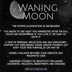 cpd The Phases of our Magical Moon- Waning Moon information by Soul Sisters Designs Wiccan Spell Book, Magick Book, Witchcraft, Spell Books, Crescent Moon Meaning, Lunar Eclipse Tonight, Moon Information, Moon Activities, Moon Astrology