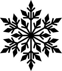 Black snowflake silhouette - Domains - Ideas of Domains - Black snowflake silhouette Snowflake Stencil, Snowflake Template, Snowflake Designs, Snowflake Pattern, Christmas Stencils, Christmas Snowflakes, Christmas Crafts, Cut Out Snowflakes, Painting Snowflakes
