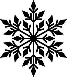 Black snowflake silhouette - Domains - Ideas of Domains - Black snowflake silhouette Christmas Stencils, Christmas Svg, Christmas Ornaments, Diy Ornaments, Xmas, Stencil Patterns, Stencil Designs, Snowflake Silhouette, Snowflake Template