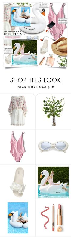 """""""Untitled #1354"""" by sibanesly ❤ liked on Polyvore featuring interior, interiors, interior design, home, home decor, interior decorating, Chicwish, Diane James, Puma and PBteen"""