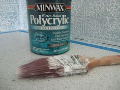 The Starter Home: Faux Antique Tin Backsplash