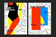 Julio Victoria Euro Tour Flyers on Behance