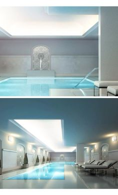 So beautiful! {Luxury Swimming Pool Expensive Rich Glass See Through View Modern} Luxury Swimming Pools, Luxury Pools, Dream Pools, Swimming Pool Designs, Cool Pools, Awesome Pools, Piscina Interior, Swiming Pool, Dream Mansion