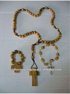 palestina hecha a mano de madera de olivo de la cuerda del rosario-Artesanías de Esculturas-Identificación del producto