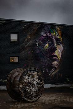 #Beautiful #street art #painting #dramatic #woman #Tallinn #telliskivi #katutaide #dramaattinen #naisen kasvot #maalaus #face #brave #fearless #peloton Brave, Painting, Studio, Beautiful, Art, Art Background, Painting Art, Kunst, Paintings