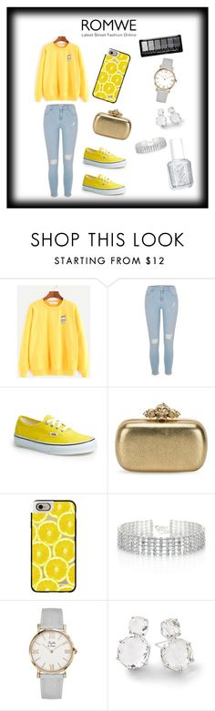 """""""Yellow"""" by thelittleprincesse ❤ liked on Polyvore featuring River Island, Vans, Alexander McQueen, Casetify, Red Herring, Ippolita and Essie"""