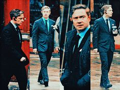 Martin Freeman as Oliver Chamberlain in The World's End. Martin, that is the worst suit ever.