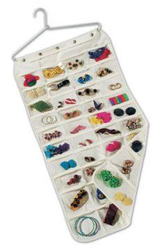 Household Essentials 80 Pocket Hanging Jewelry Organizer