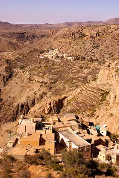 Villages in the mountains #Oman Remember breaking down here....and OMG the heat!!!!
