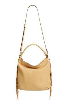 REBECCA MINKOFF 'Clark' Hobo Bag. #rebeccaminkoff #bags #leather #lining #shoulder bags #hand bags #hobo #cotton