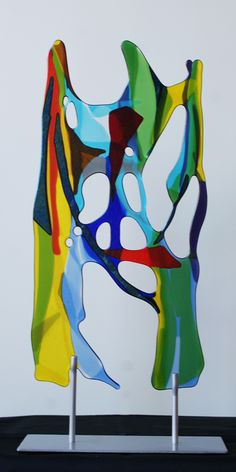 Fused glass object, by Yvonne Veen