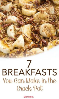 7 Breakfasts You Can Make in the Crock Pot Crockpot breakfasts help save time in the morning. A quick & easy way to enjoy a healthy meal. 7 Breakfasts You Can Make in the Crock Pot Slow Cooker Breakfast, Breakfast Crockpot Recipes, Slow Cooker Recipes, Healthy Crockpot Dinners, Eggs Crockpot, Clean Eating Slow Cooker Recipe, Healthy Crock Pots, Crockpot Drinks, Crockpot Breakfast Casserole