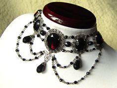 Cesare - elegant Renaissance / Gothic inspired choker necklace l ETSY