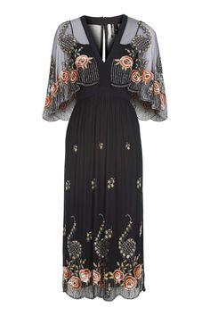 All Over Embellished Midi Dress - Topshop