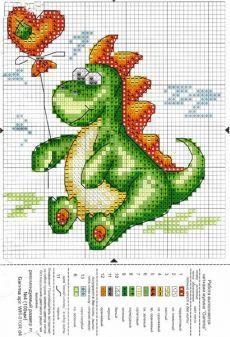 Dragon with Balloon Cross Stitch Boards, Cross Stitch For Kids, Cross Stitch Pillow, Just Cross Stitch, Cross Stitch Art, Cross Stitch Animals, Modern Cross Stitch, Counted Cross Stitch Patterns, Cross Stitch Designs