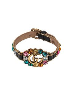 a0f9023a8 Gucci Leather Bracelet With Double G - Farfetch