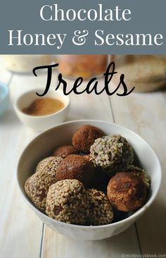 These little treats of raw cacao, honey and sesame paste are a simple yet delicious, healthy treat!!