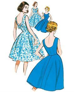 Patron de robe Vintage 1960 - Butterick 5748