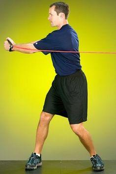 Allenamento in rotazione con gli elastici Nike