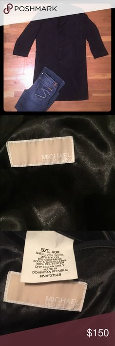 Gorgeous Michael Kors Wool/Cashmere Top coat Only worn once Michael Kors cashmere Trench coat. Size 40R like brand new condition Michael Kors Jackets & Coats Trench Coats