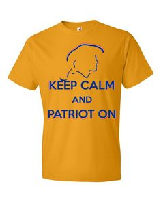 Keep Calm and Patriot On Constitutional Freedom Lovers Unisex Men's Tee Short sleeve t-shirt