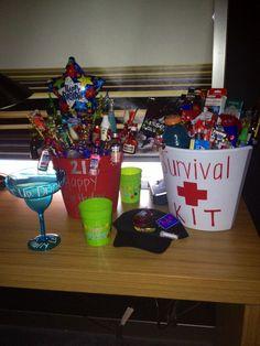 21 Birthday Gifts 21st Bouquet Bash For Boyfriend
