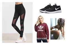 """""""Untitled #272"""" by penguin-pope on Polyvore featuring beauty, NIKE and adidas Originals"""
